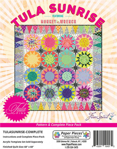 #patternTula PinkKnotty QuilterTula Pink Sunrise Complete Pattern and Paper Piece Pack# TULASUN-COMPDefault Title1# - Knotty Quilter