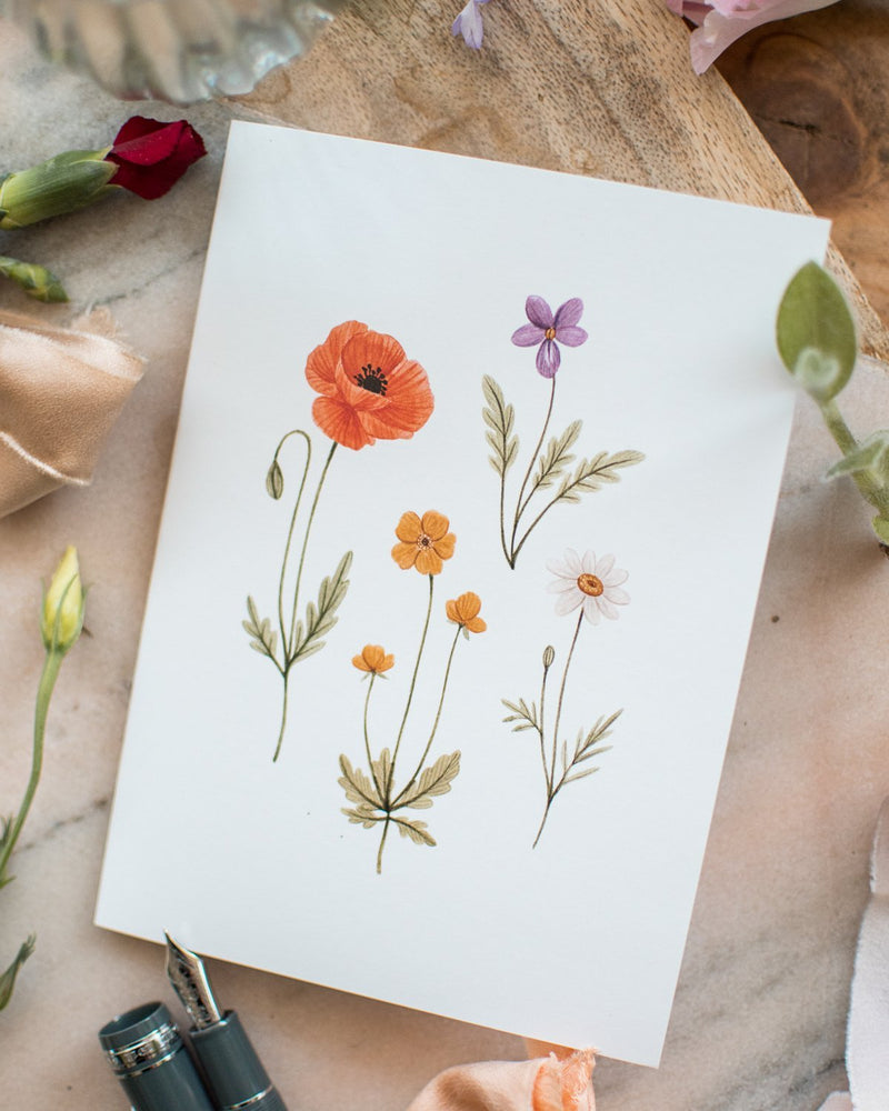 Petites Fleurs Sauvages - Joannie Houle - Greeting Cards - STUDIO FOLIAGE
