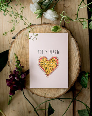 Pizza - Fleur maison - Greeting Cards - STUDIO FOLIAGE