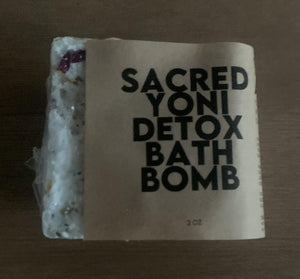 Sacred Yoni Detox Bath Bomb, 2 oz. Yoni Detox Steam, Hip Bath, VSteam, PRE-Order Ships 2/1/2021 - Body Love Self Care Shop