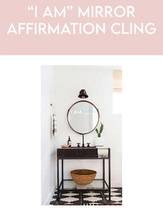 I AM Affirmation Mirror Decal//Motivational decal//Motivational quotes//Bathroom Accessories// - Body Love Self Care Shop
