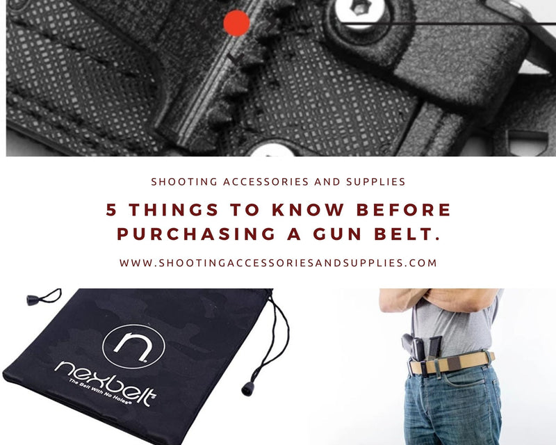 5 Things to know before purchasing a gun belt
