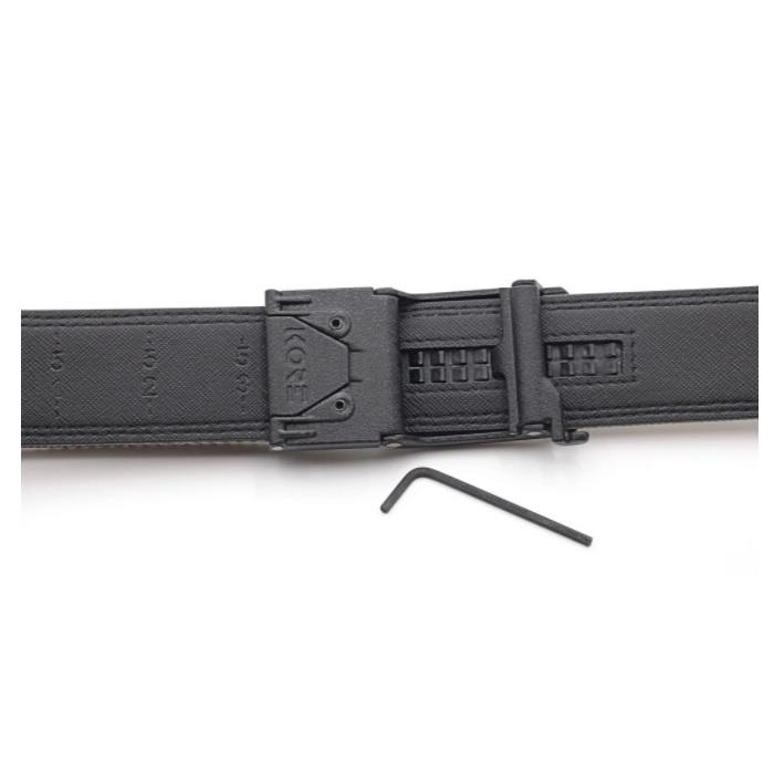 Kore Essentials Gun Belt X5 Buckle, Grey Tactical Nylon Strap With FREE Closet Hanger Belts Shooting Accessories & Supplies