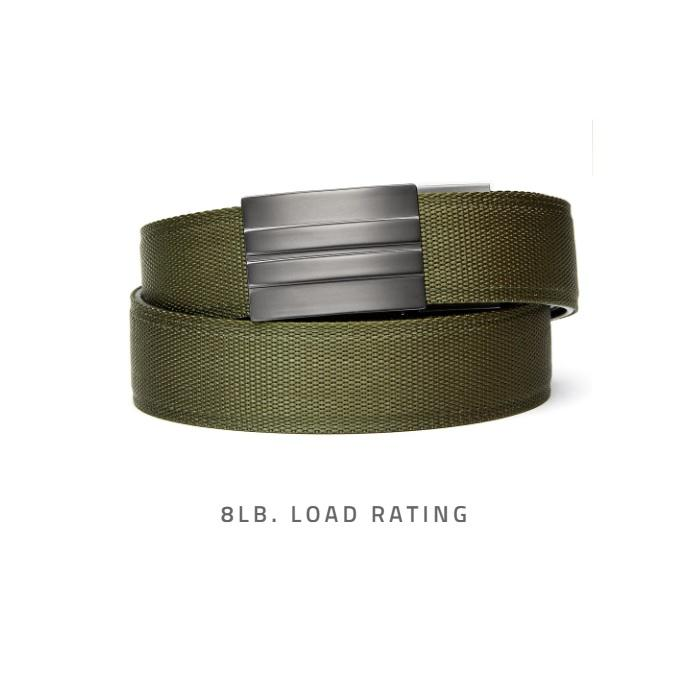 KORE Essentials Tactical Gun Belt X2 Green Gunmetal With FREE Closet Hanger - Shooting Accessories & Supplies