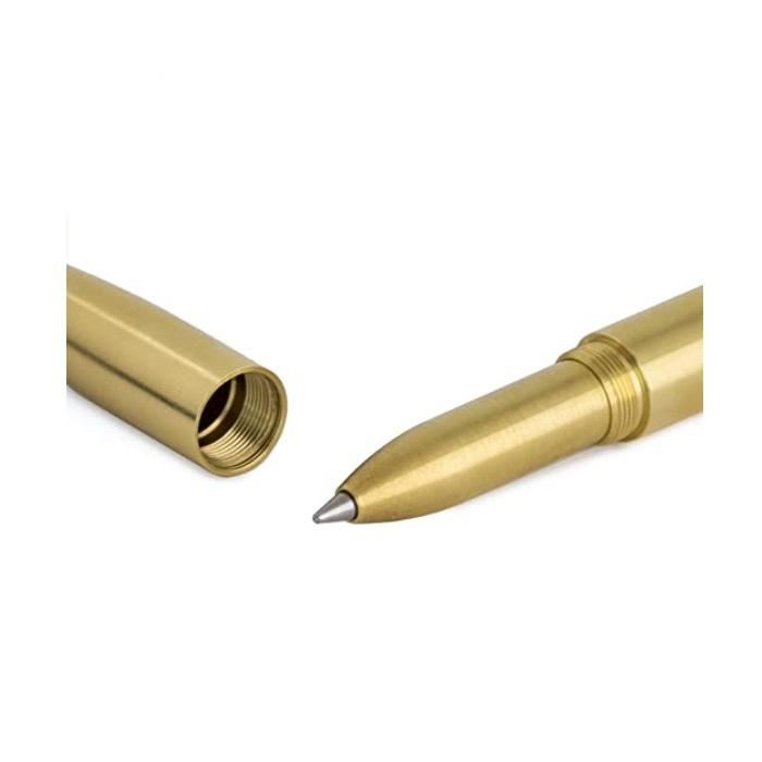 Tactical EDC Pen, Machine Era Original Brass Pen With FREE Ballistol Multipurpose Wipes - Shooting Accessories & Supplies