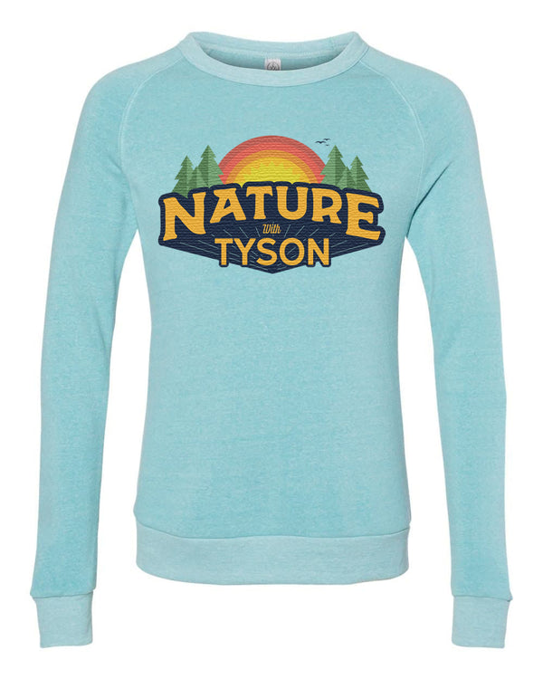 Nature with Tyson Crewneck Sweater - Light Blue