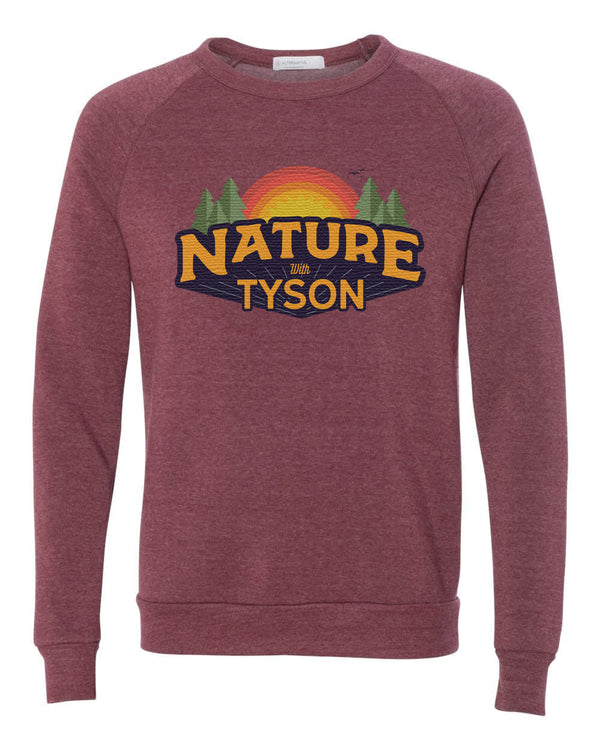 Nature with Tyson Crewneck Sweater - Brick