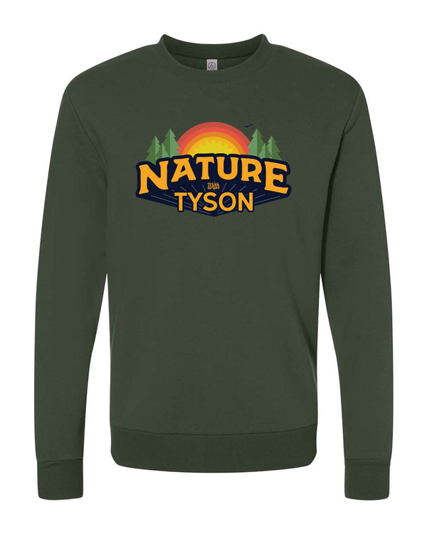 Copy of Nature with Tyson - Crewneck Forest Green