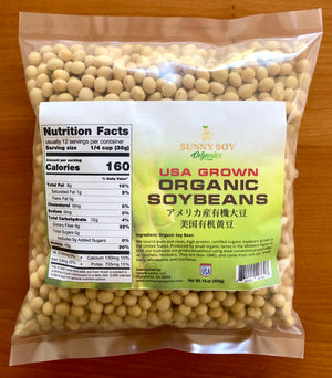 USA Grown Organic Soybeans , Non-GMO. Makes Creamy Soy Milk, Tofu, Miso, Natto