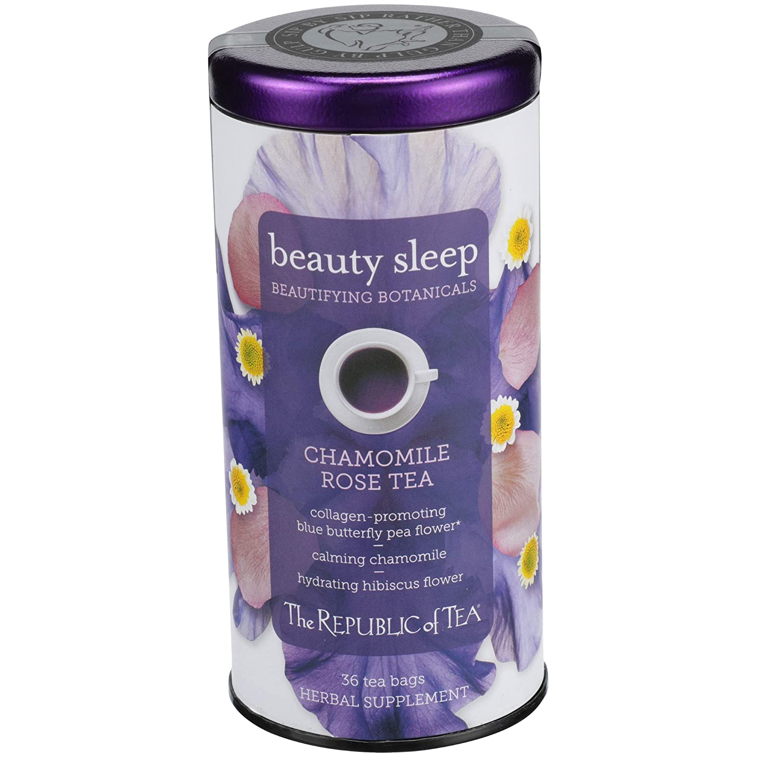 The Republic of Tea Beautifying Botanicals️ Beauty Sleep Herbal Tea 36 Tea Bag