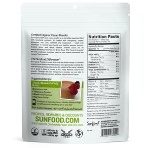 Sunfood Super Foods Organic Cacao Powder, 8oz