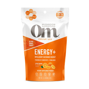 OM Organic Mushroom Food ENERGY+ 112G CITRUS ORANGE