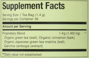 The Republic of Tea Lean Green Supergreen Tea, 36 Tea Bags, Matcha And Garcinia Cambogia Tea Blend