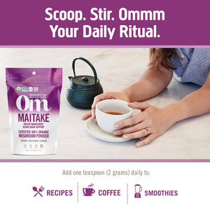 OM Organic Mushroom Nutrition Supplement Powder - Maitake