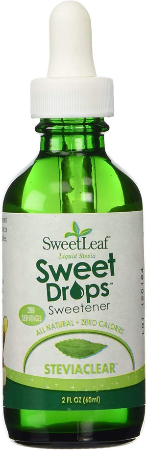 SweetLeaf Sweet Drops Liquid Stevia Sweetener, Stevia Clear