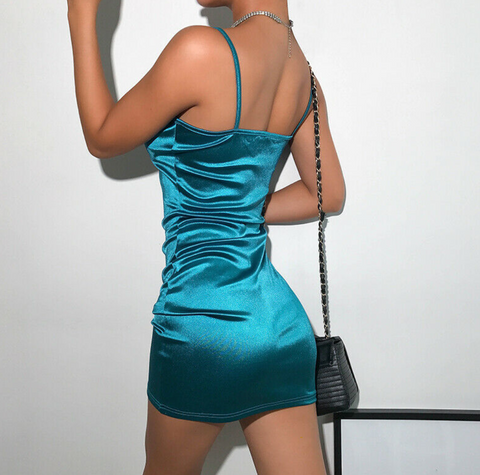 Iridescent Turquoise Mini Dress