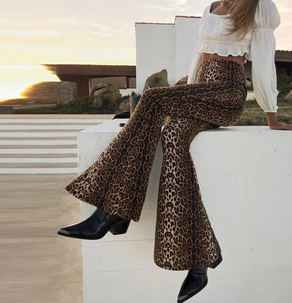 Leopard Print Flares
