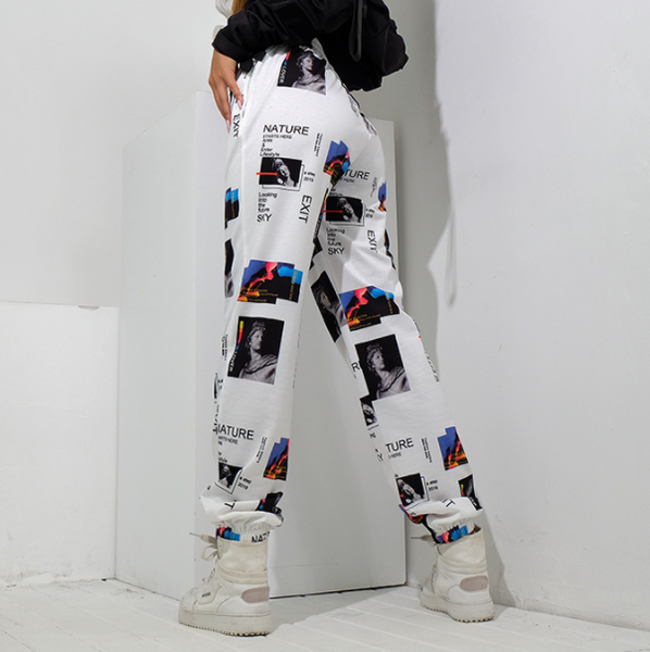 Look Into The Future Graphic Pants