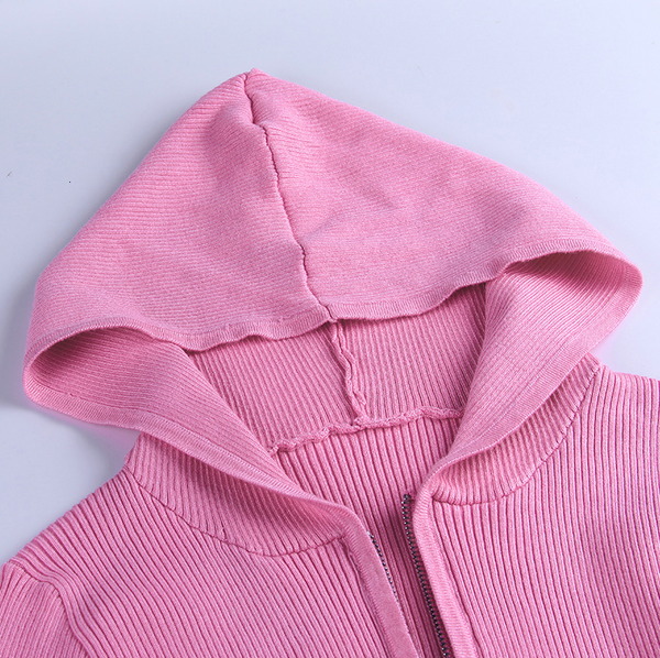 Hooded Zip-up Crop