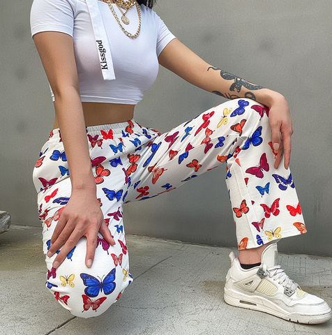 Multi-Coloured Butterfly Pants