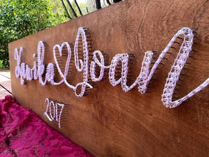 String Art Welcome Sign
