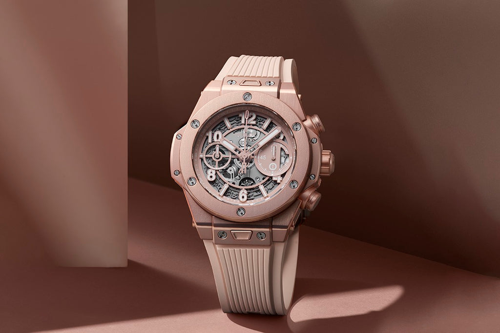 "Hublot Changes the Game with Its New & Inclusive ""Millennial Pink"" Big Bang Watch"