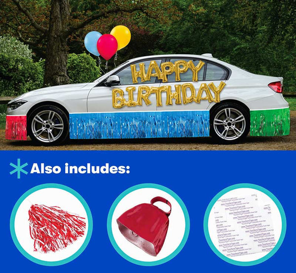Car decorating kits are perfect for drive by celebrations!