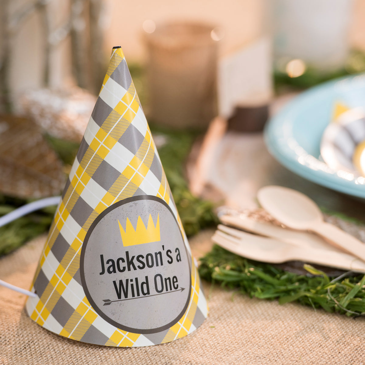 Wild One Personalized Party Hats