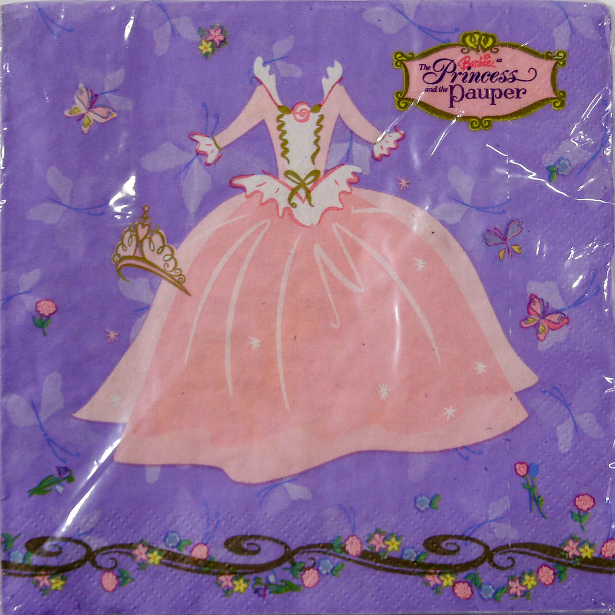 Barbie The Princess and the Pauper Luncheon Napkins