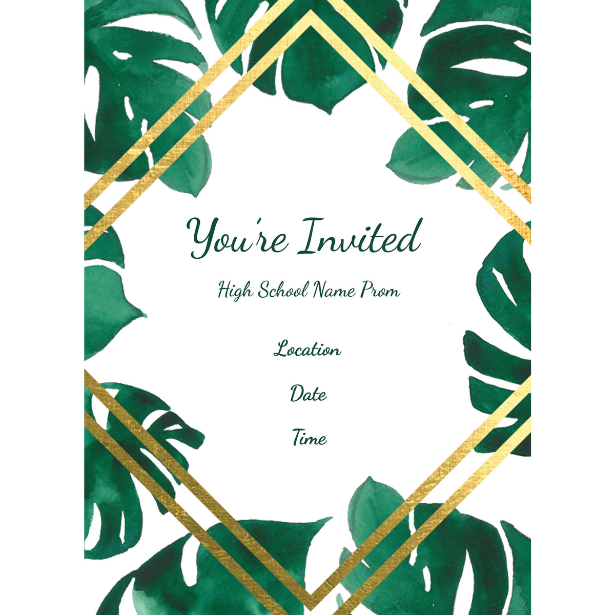 Tropical Chic Personalized Stationery Cards