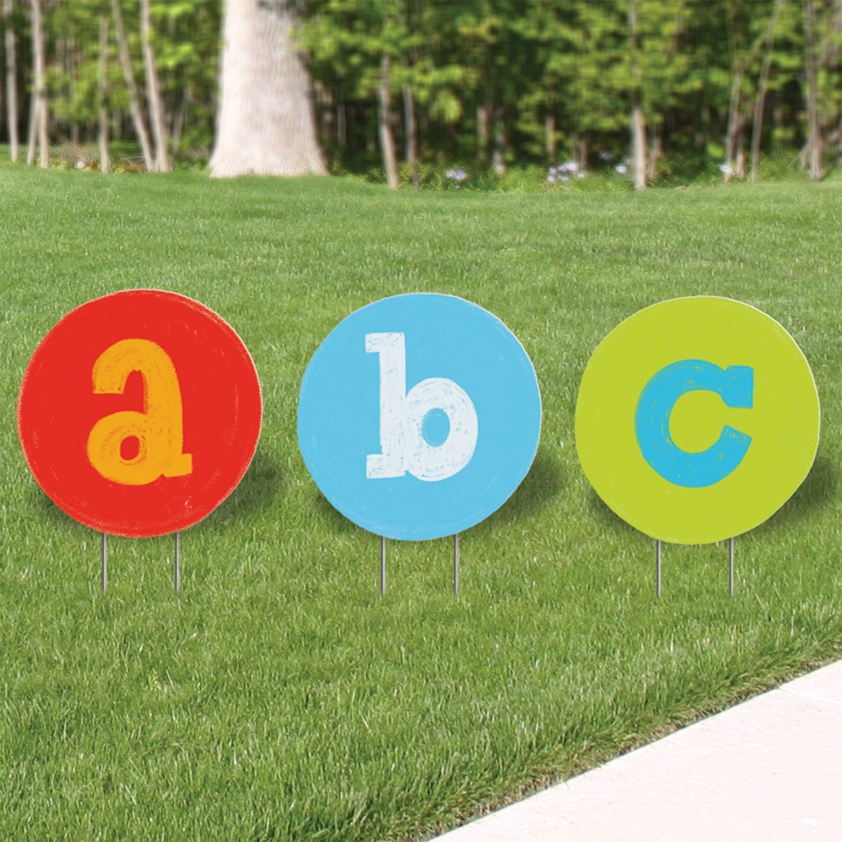 1 ft. 10 in. ABC Yard Sign Expression Icon Set