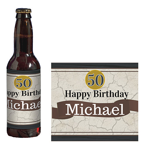 Better with Age Personalized Glass Bottle Labels