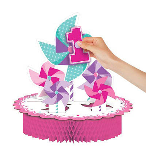 Turning One Girl Centerpiece
