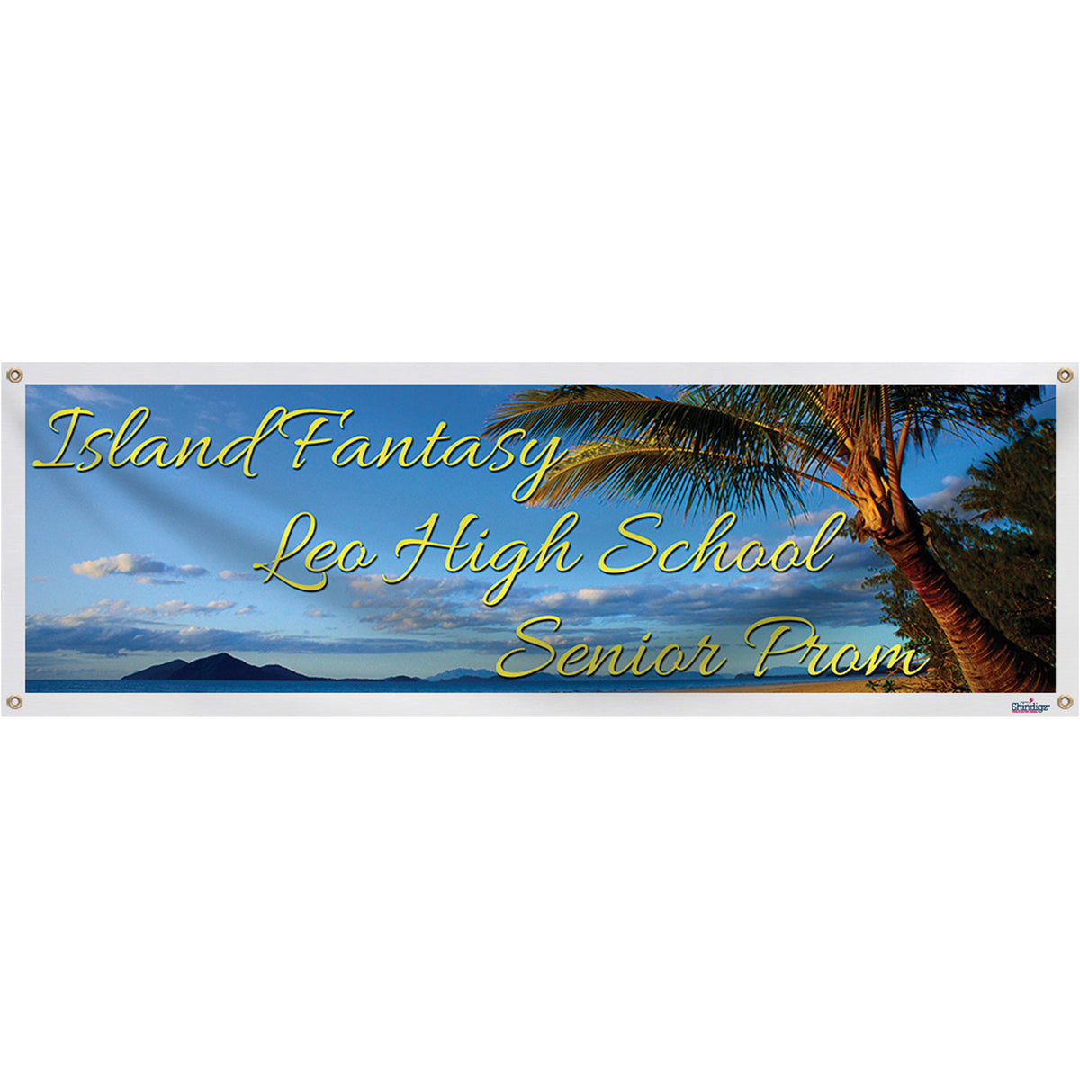 Tropical Skyline Personalized Banner