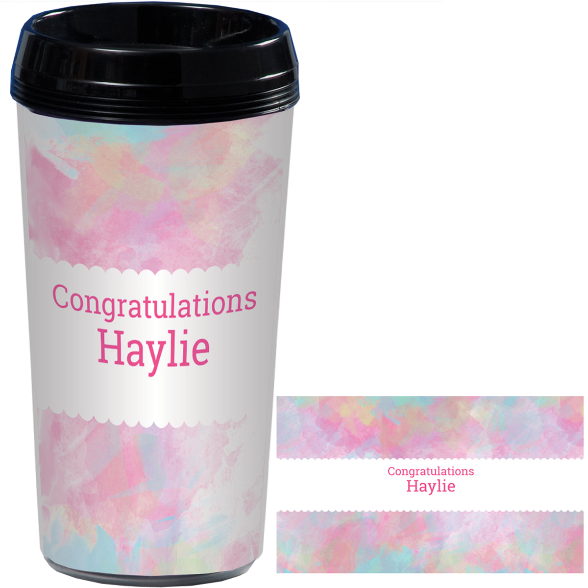 Watercolor Personalized Travel Mugs
