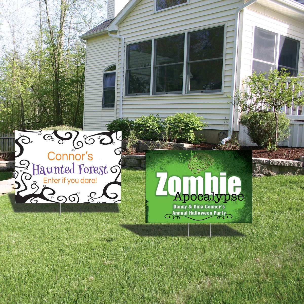Two Tone Football Yard Sign