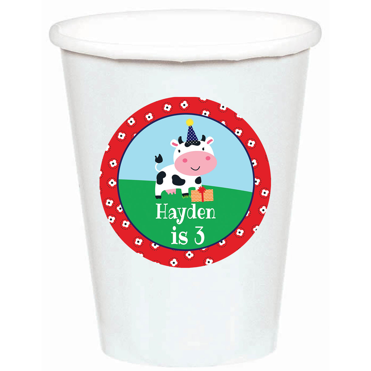 Barnyard Buddies Stickered Personalized Cups