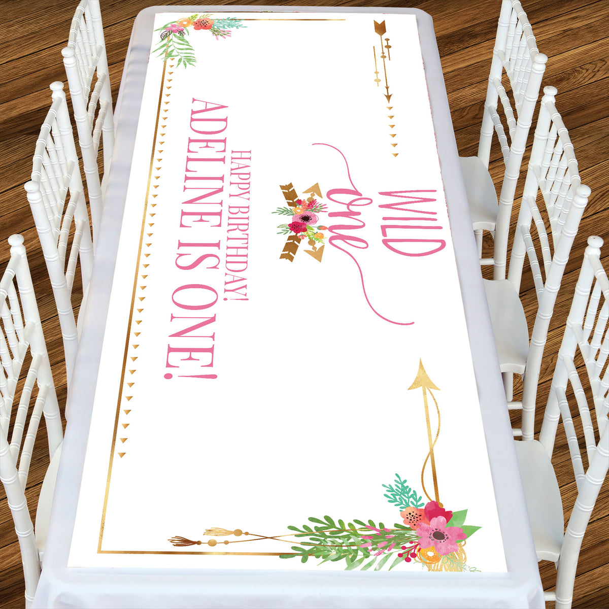 Wild One Girl Rectangle Table Top-It