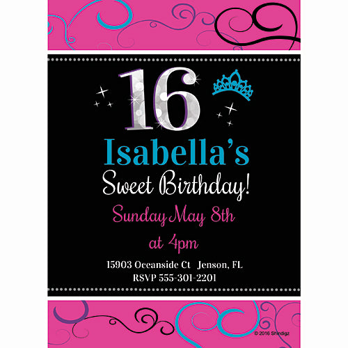 Sweetest 16 Personalized Invitations