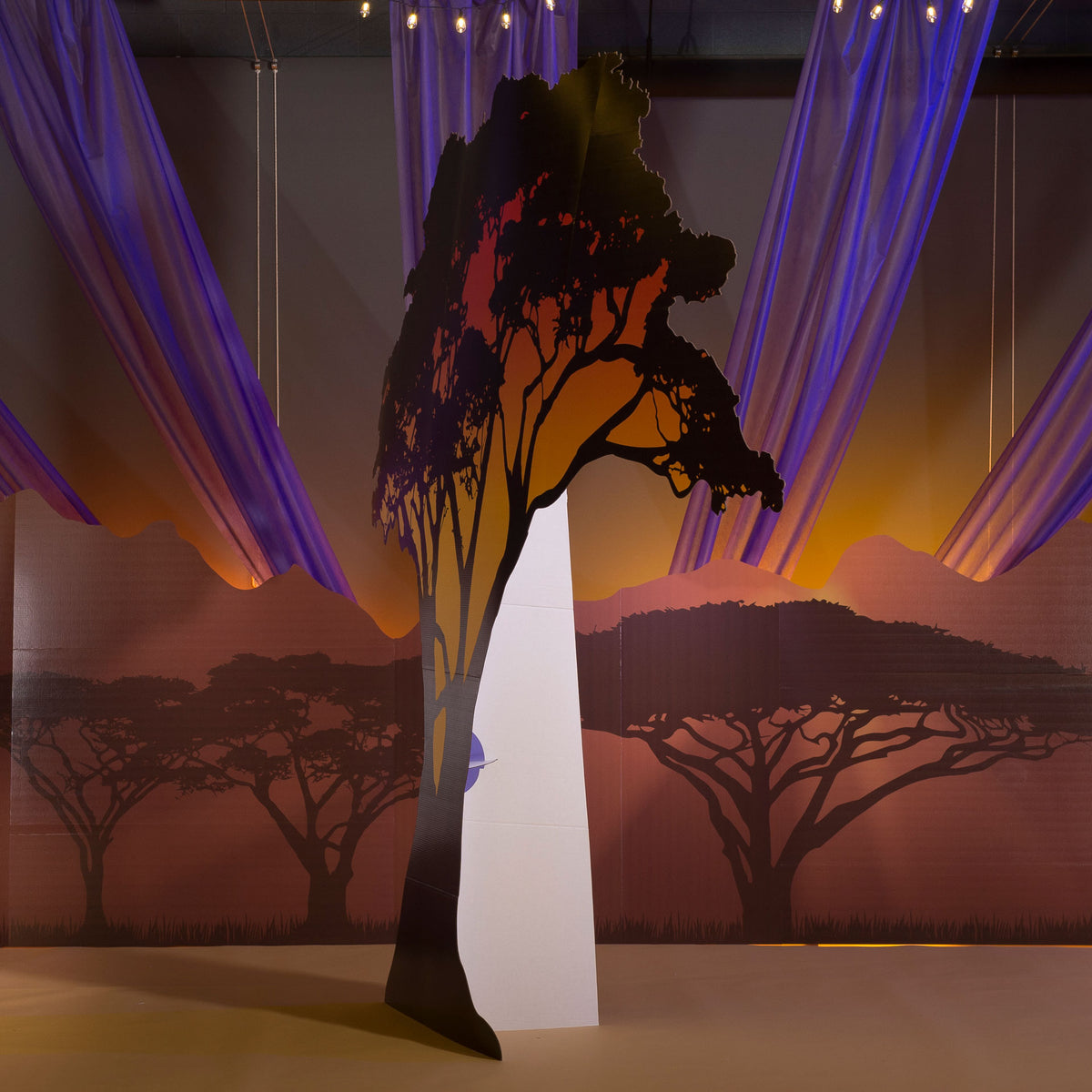 9 ft. 8 in. Wild Safari Dreams Large Tree Silhouette