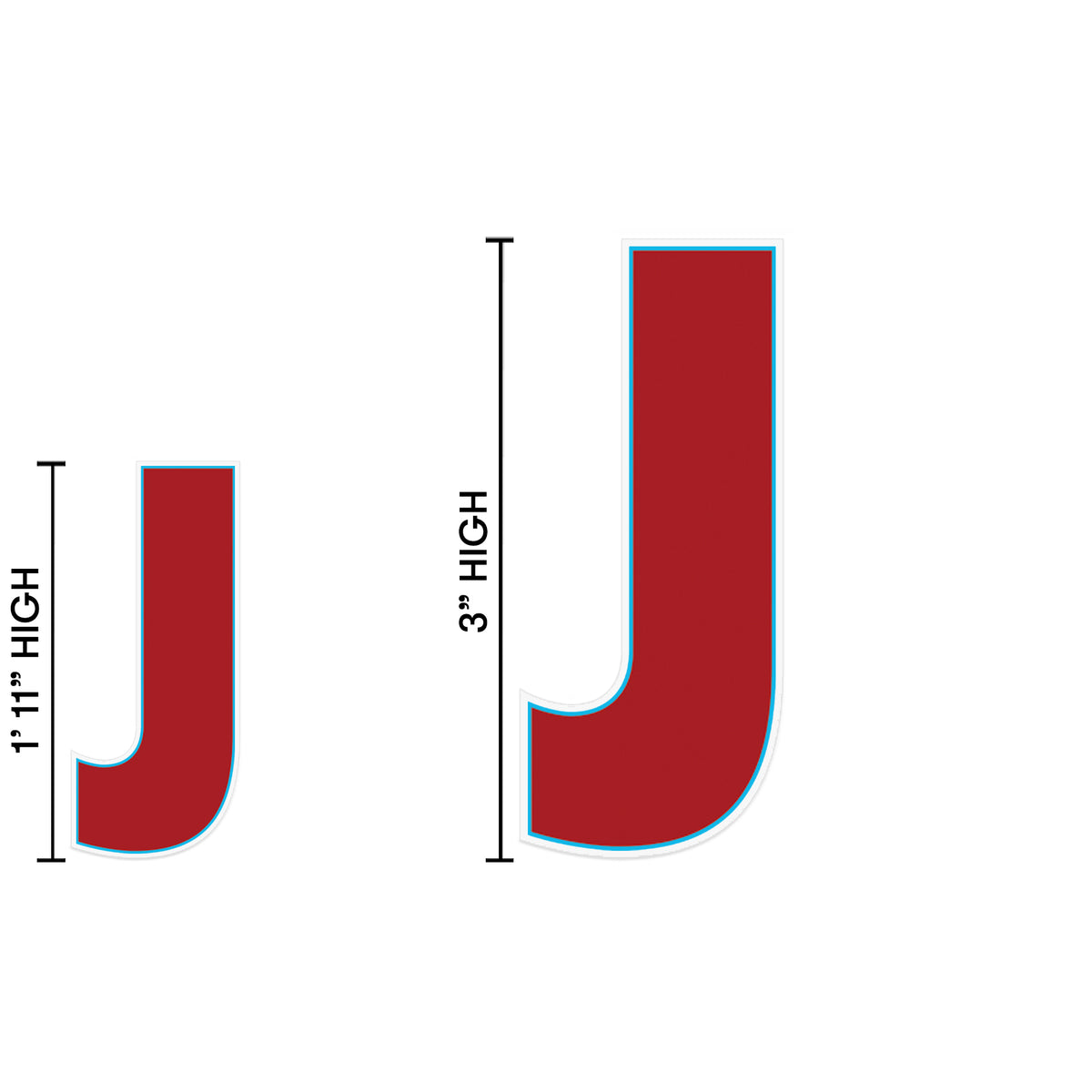Yard Sign Expression Letter J