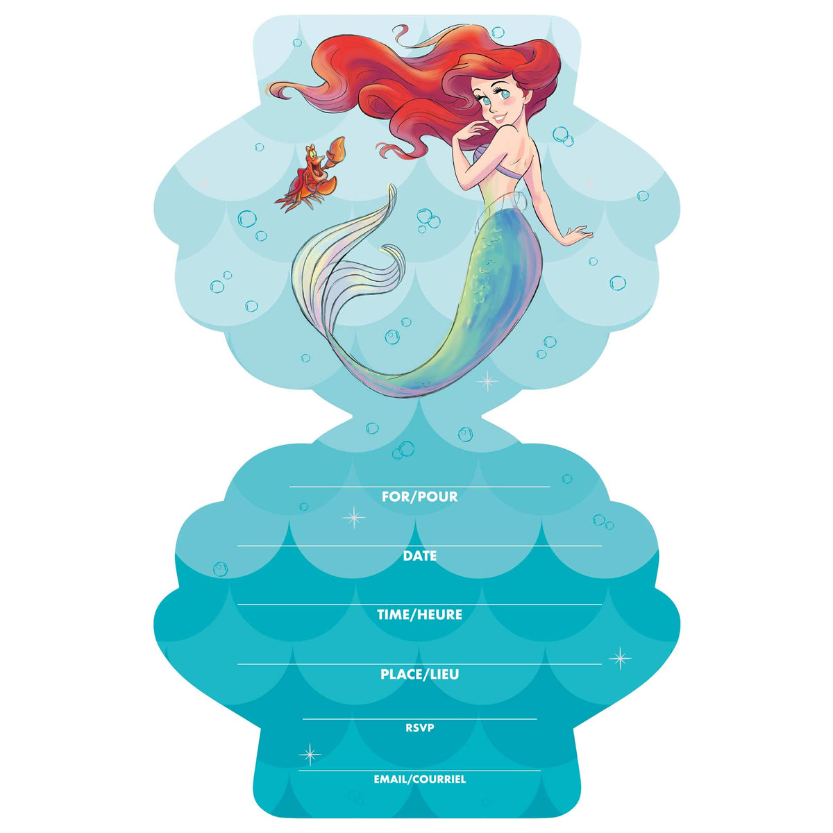 The Little Mermaid Invitations
