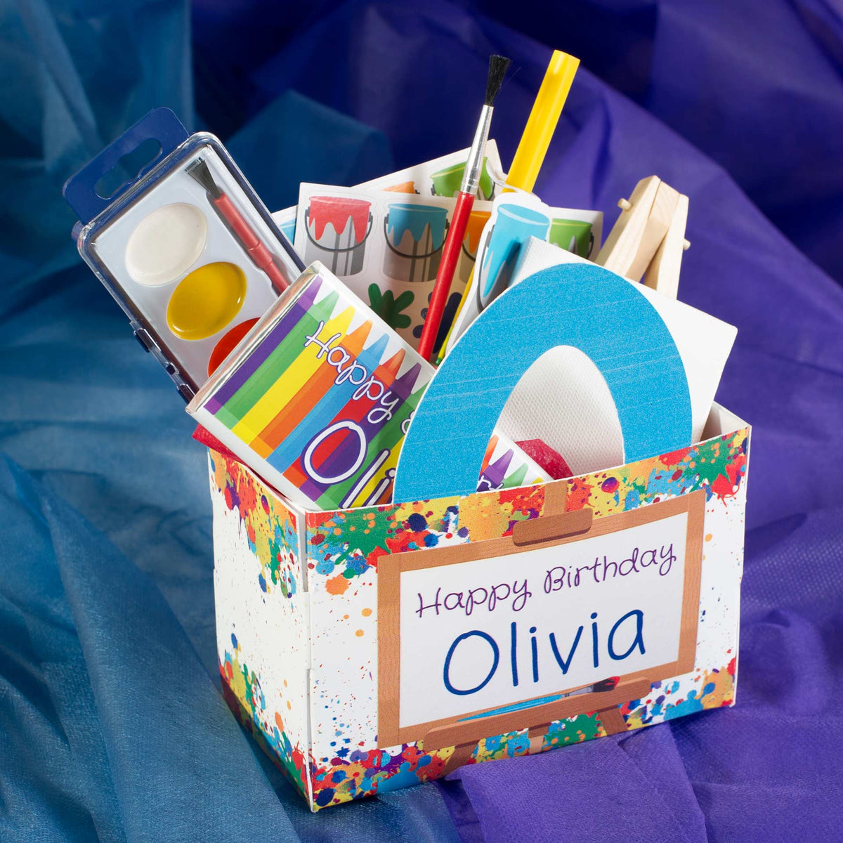 Art Party Personalized Favor Box