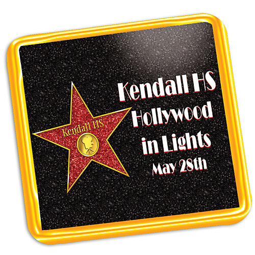 Walk of Fame Personalized Coasters