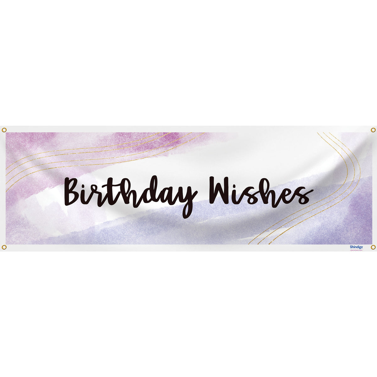 Windy Watercolor Best Wishes Horizontal Banner