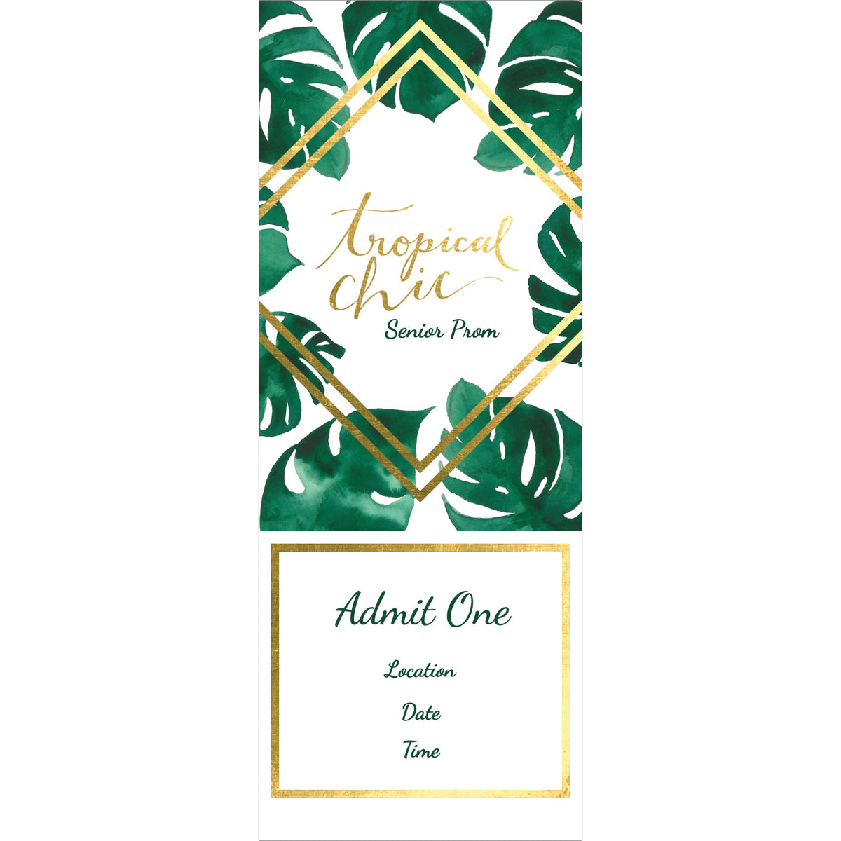 Tropical Chic Personalized Tickets