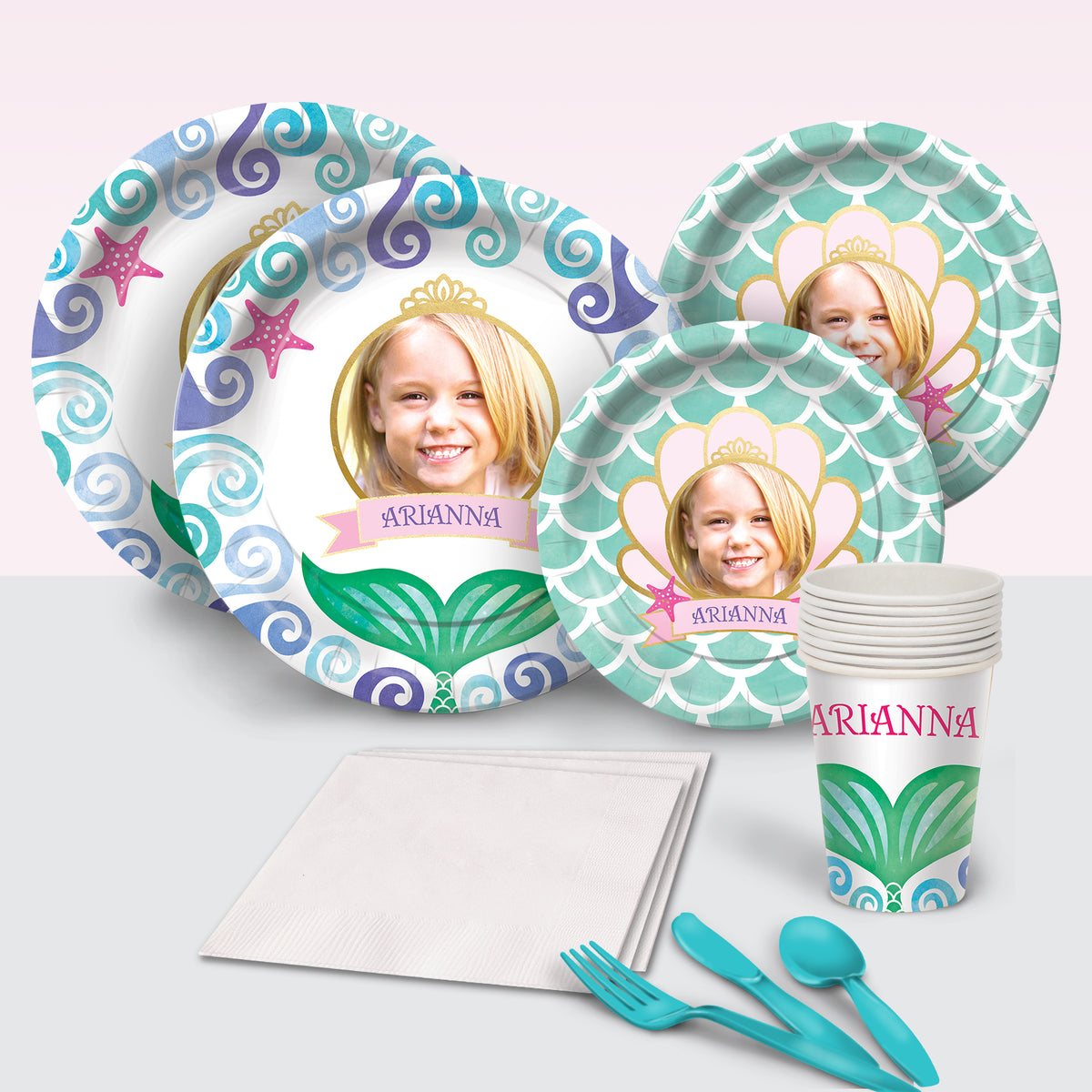 Waves and Wishes Personalized Basic Party Pack
