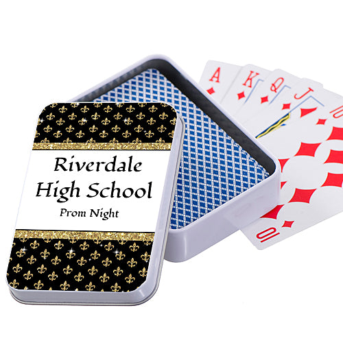 Tres Chic Personalized Playing Card Case