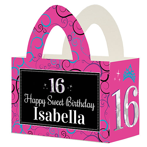 Sweetest 16 Personalized Favor Box