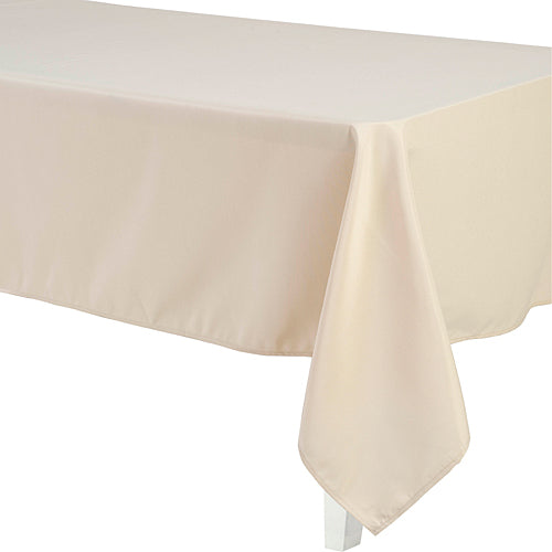 Beige Rectangular Polyester Tablecloth